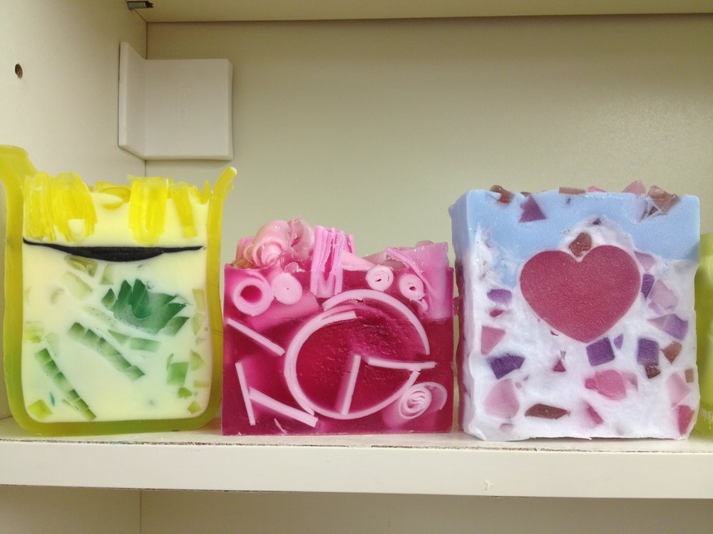 A selection of hybrid soaps made by our students