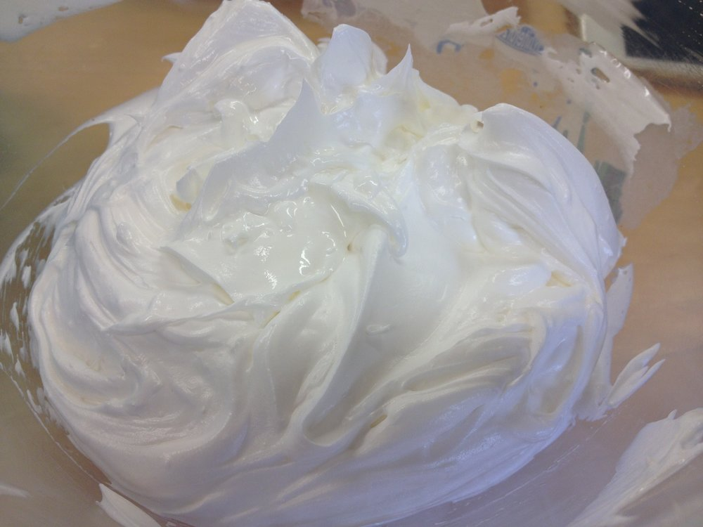Mango and cocoa triple whipped body butter from Soap School