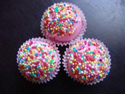 Fun style of bath truffles in bright funky colours
