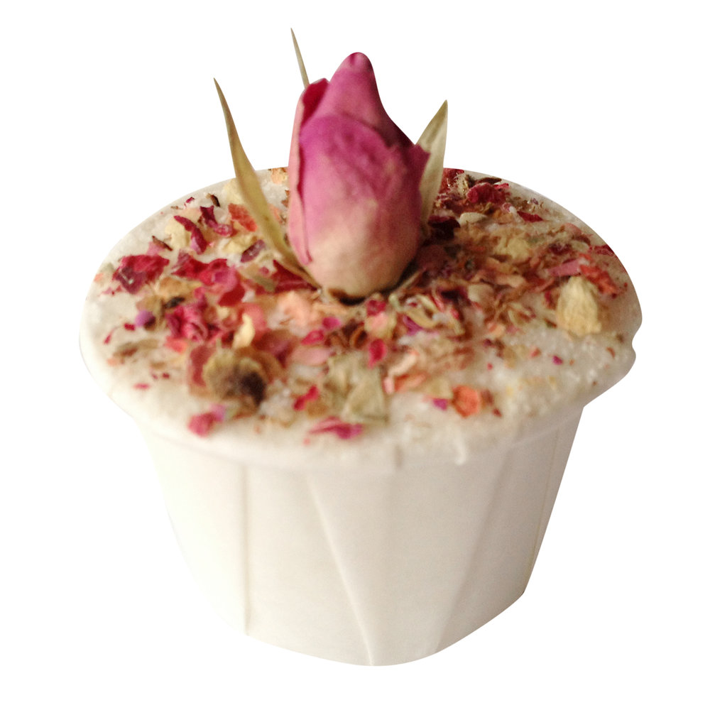 Rose Bath mallow made on the advanced bath treats course at Soap School
