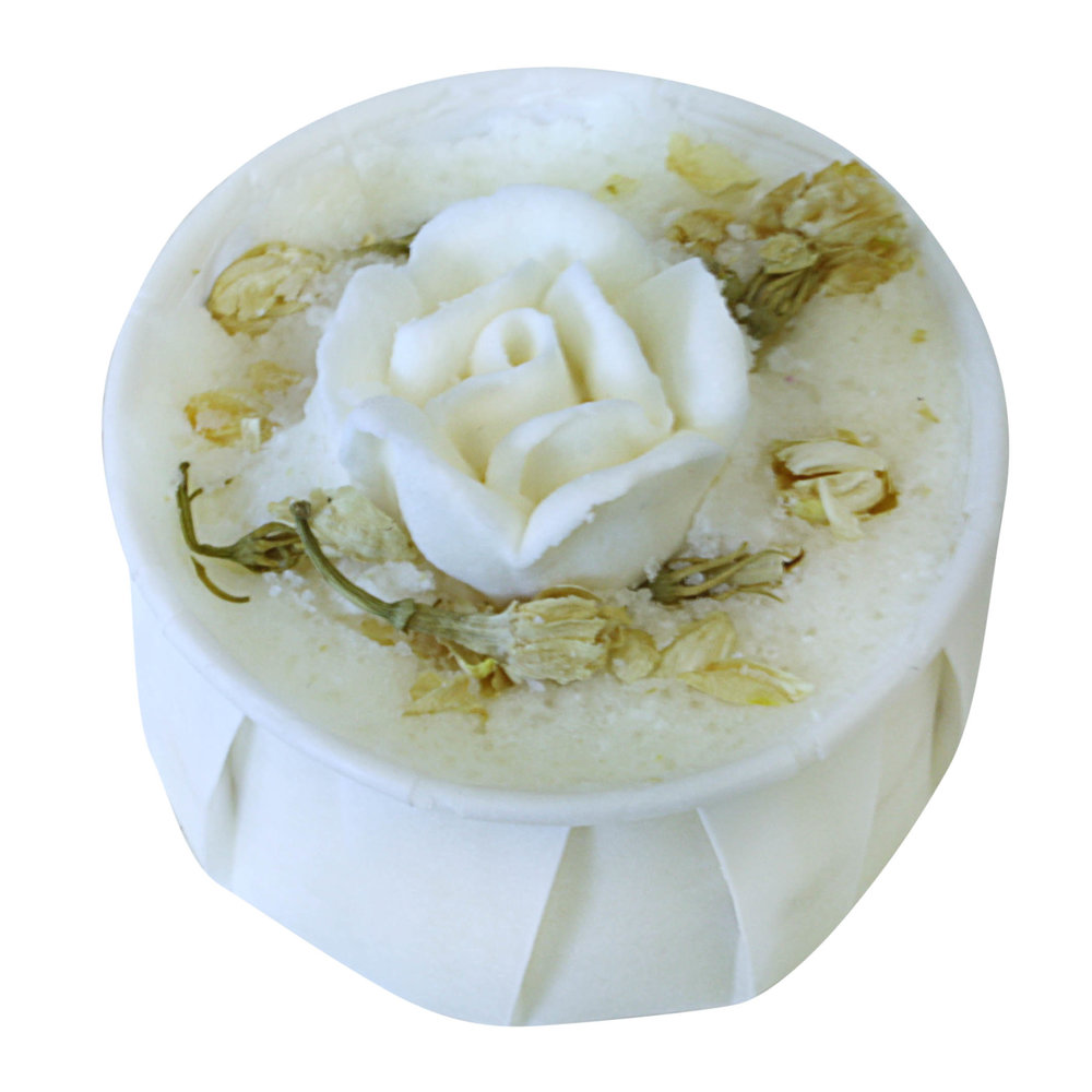 Chamomile Rose Bath Creamer from Soap School