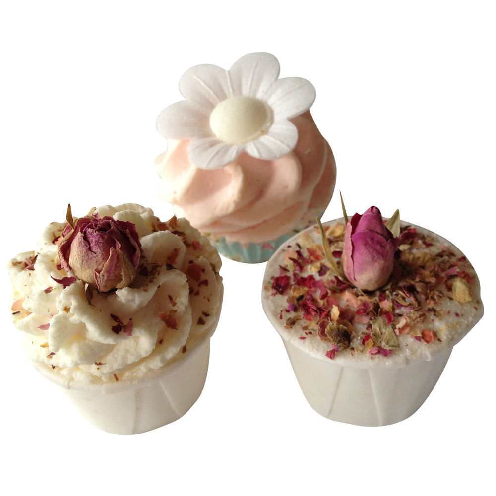 Trio of bath fizzles and bath treats