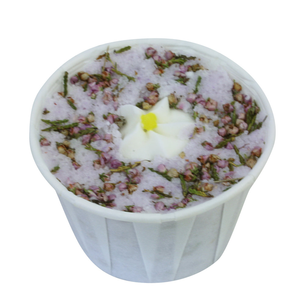 Heather and lavender bath creamer from Soap School