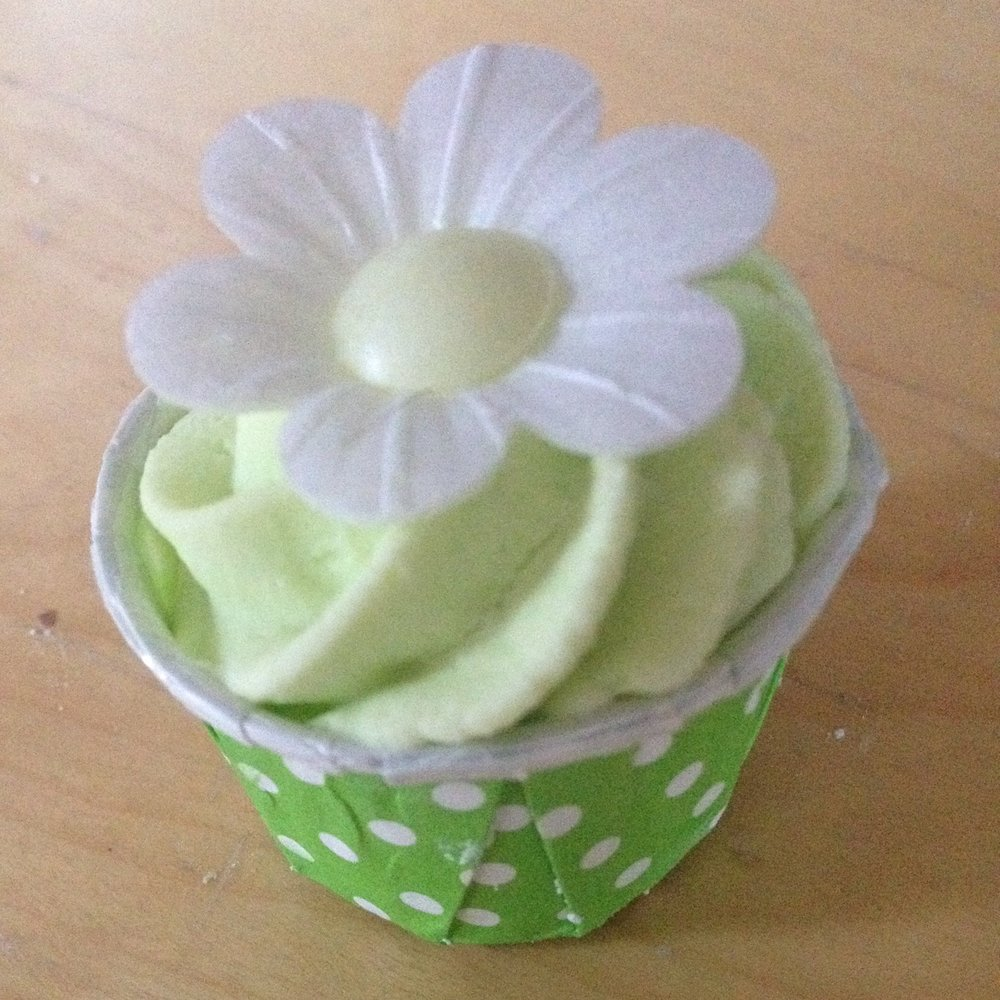 Apple blossom cupcake bath bomb
