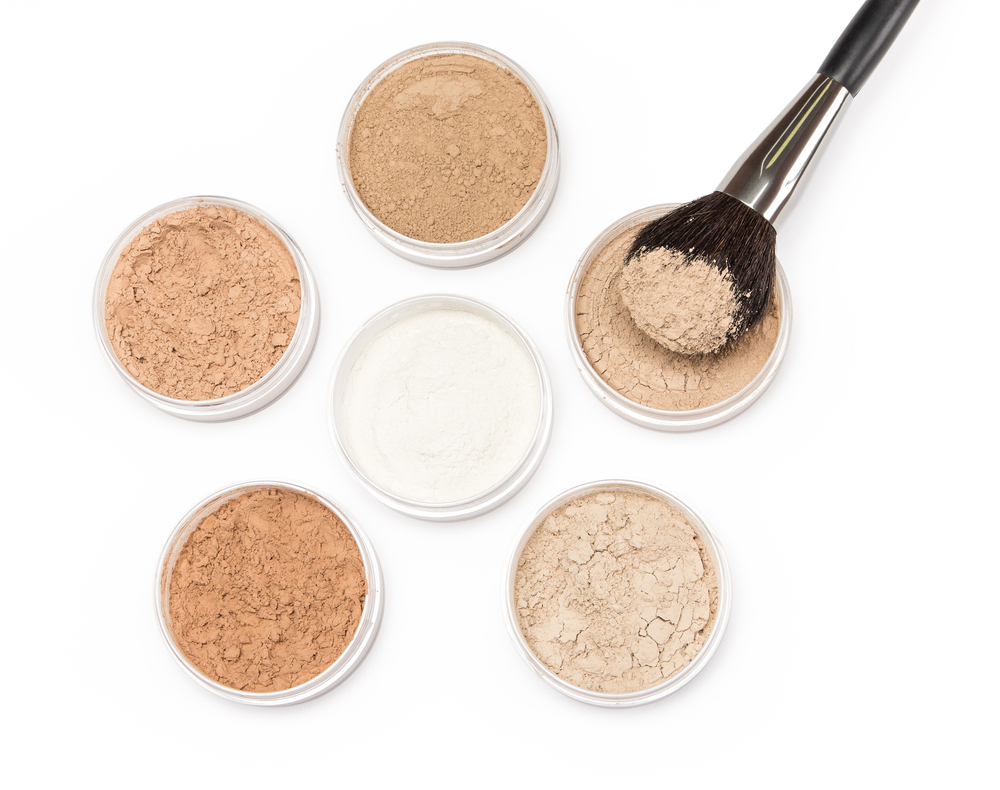 A full palette of foundation powders