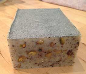 Pistachio hemp soap made at Soap School