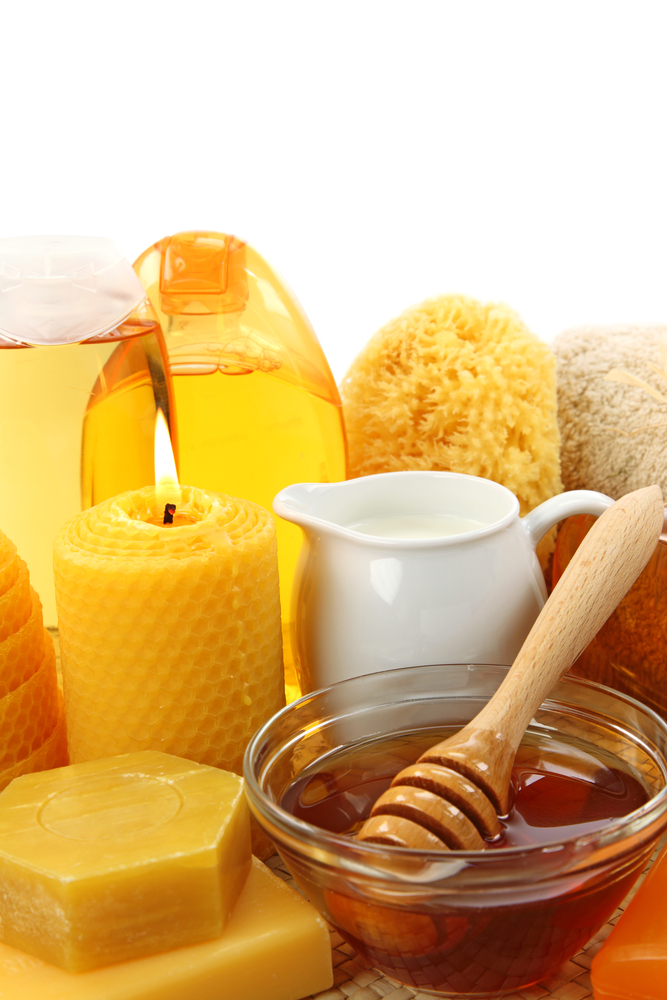 milk honey and beeswax are often used in these cosmetic products