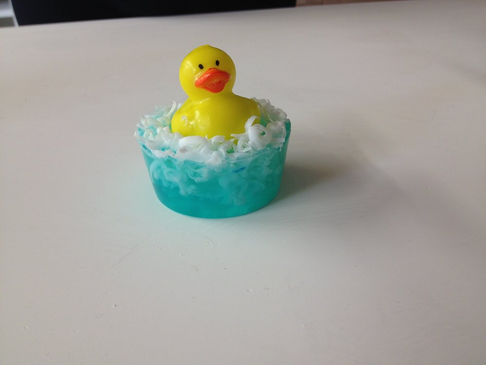 Rubber duck soap