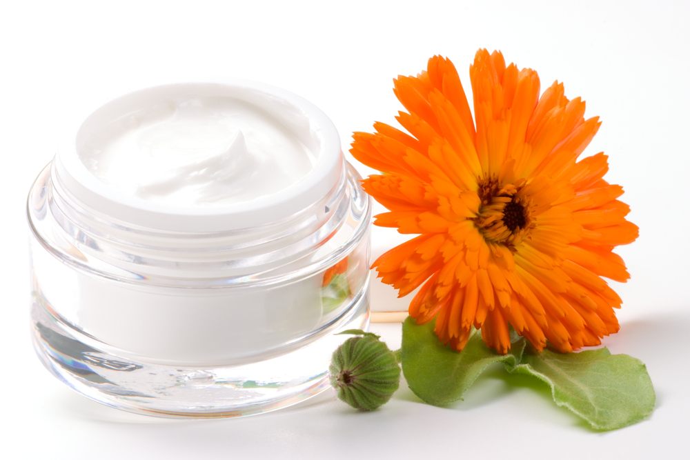 Soothing calendula and allantoin anti ageing face creams