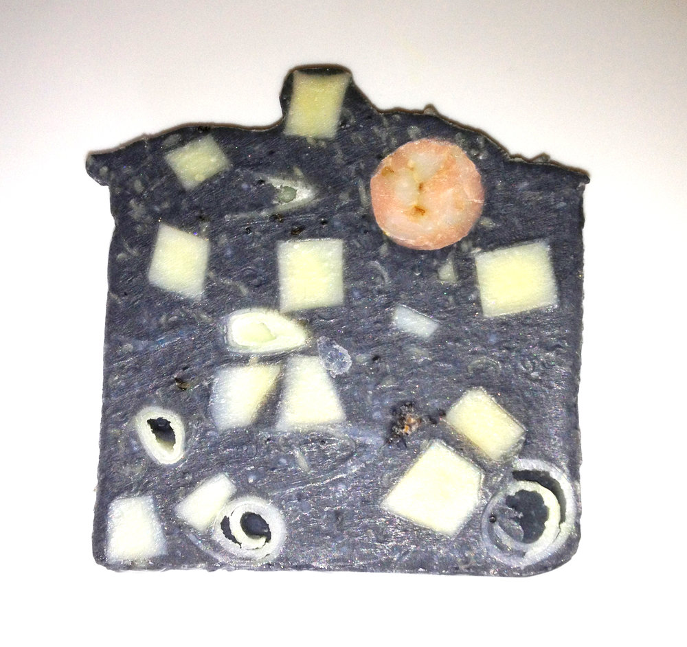 Charcoal anti acne confetti soap