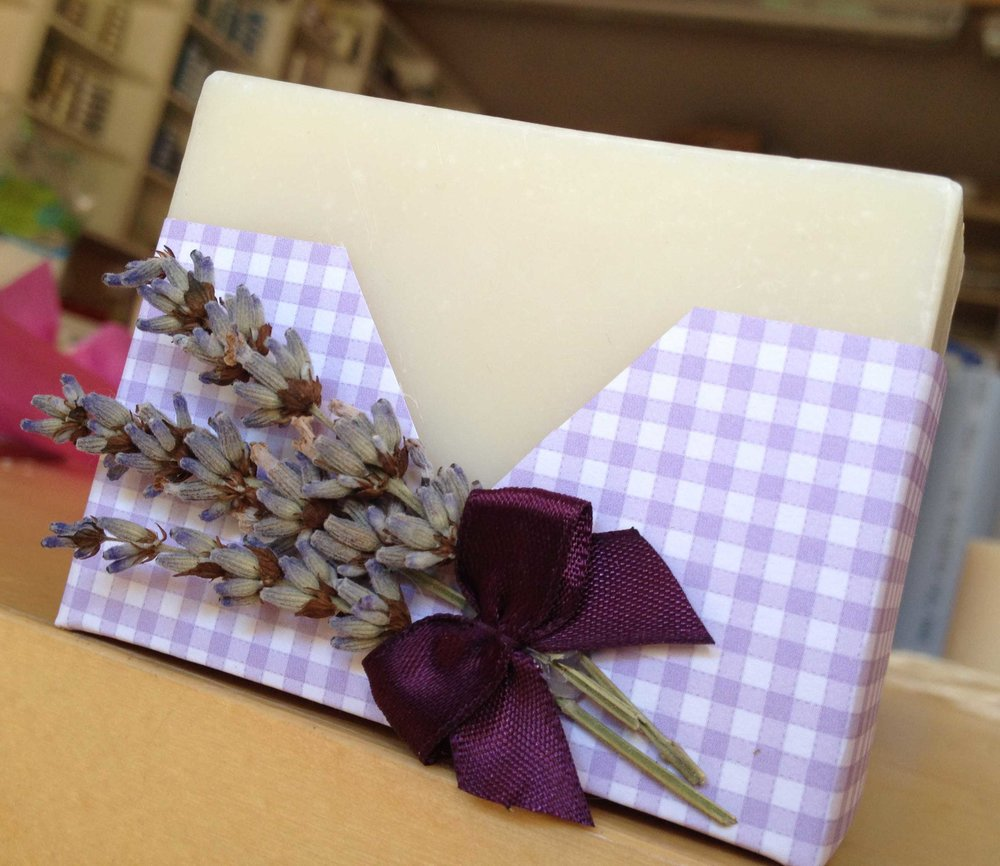 Natural lavender cold process soap