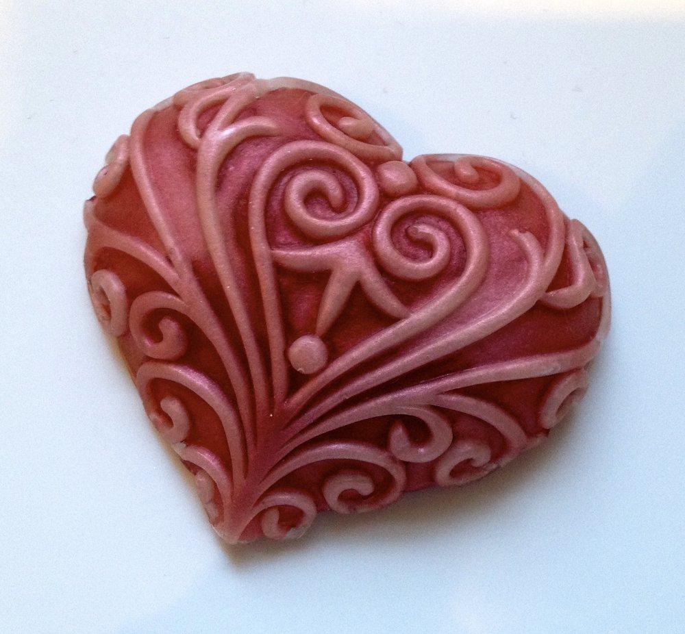 Vintage Glycerin Soap Heart