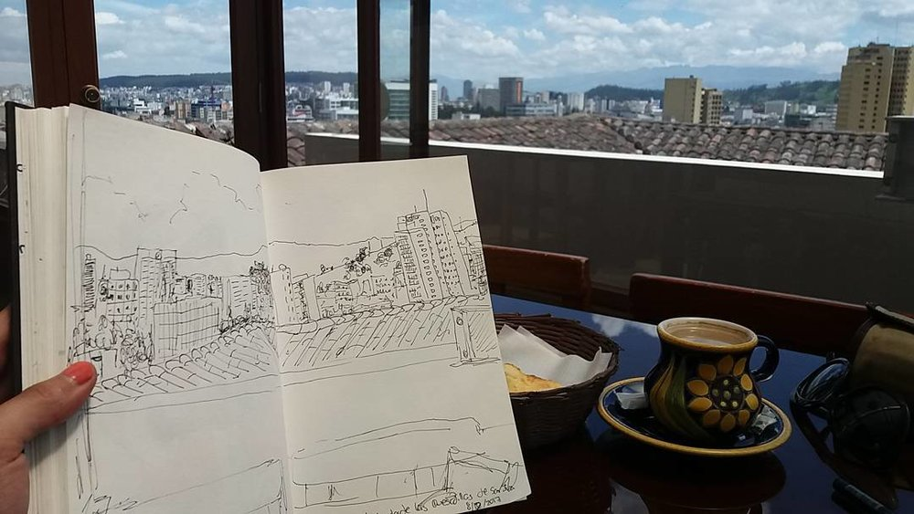 Dibujo al natural desde Las Quesadillas de San Juan -  Observational drawing from Las Quesadillas de San Juan