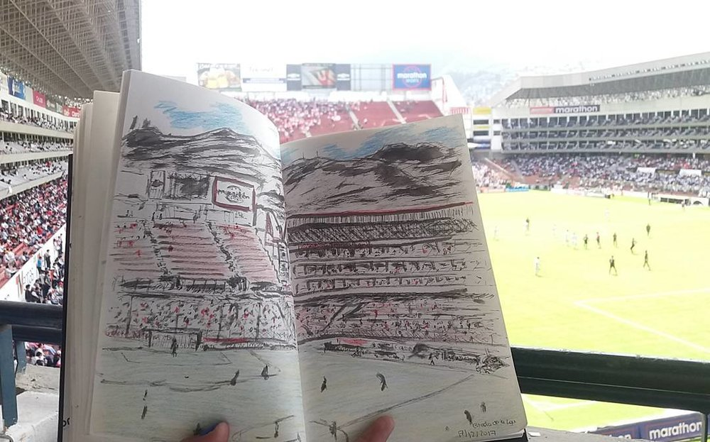 El boceto del domingo futbolero /   The sketch to the Football Sunday