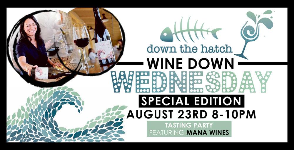 mana wine down wednesday banner