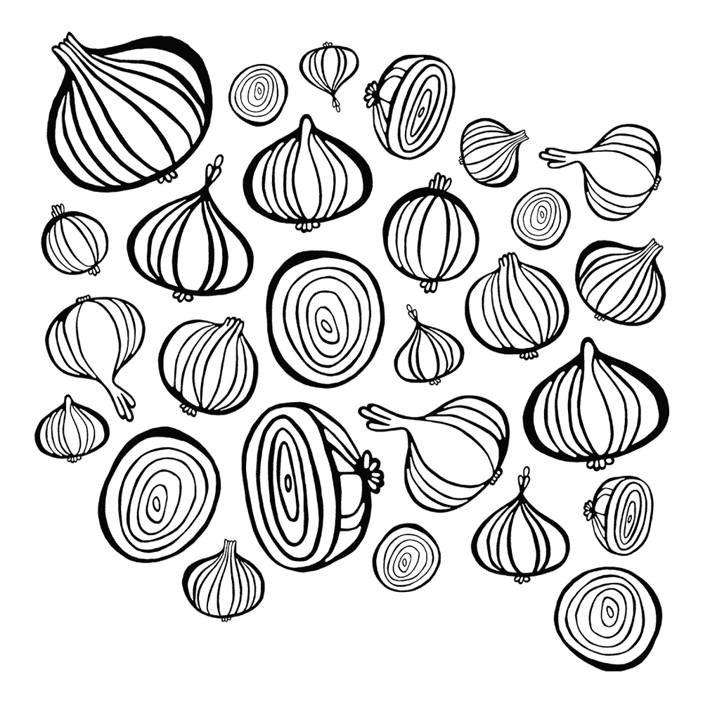 Onions { textile pattern }