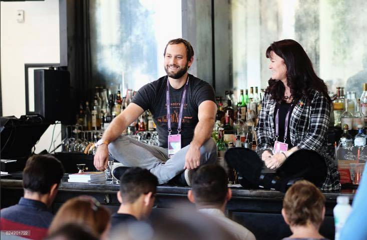 Here is Jasper teaching a workshop at the 2016 Airbnb Open, where we met.
