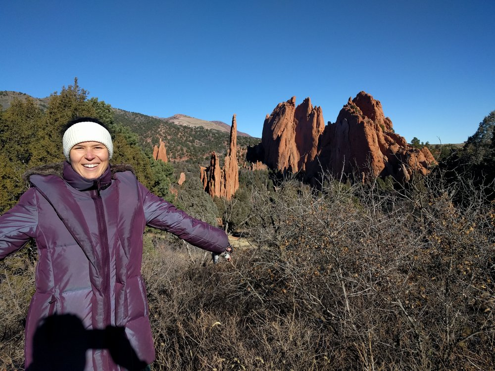 Chilly morning Hike around Garden of the Gods