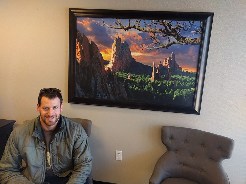 Adam at the 8z offices in Colorado Springs
