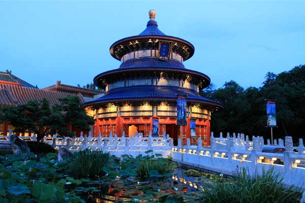 The China pavilion at the World Showcase. Image courtesy of www.wdwinfo.com