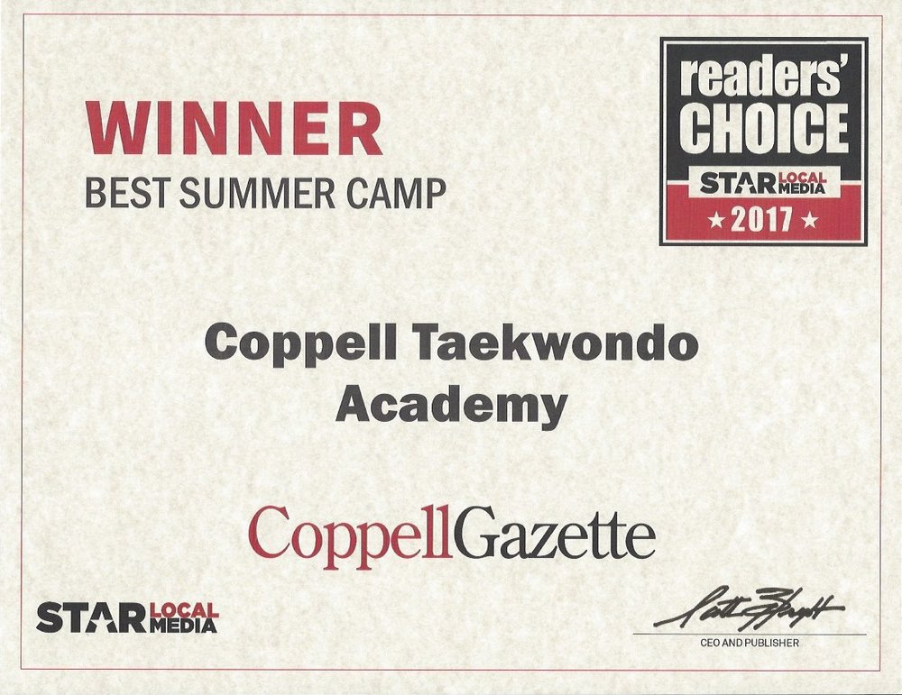 Thank you Coppell for voting us
