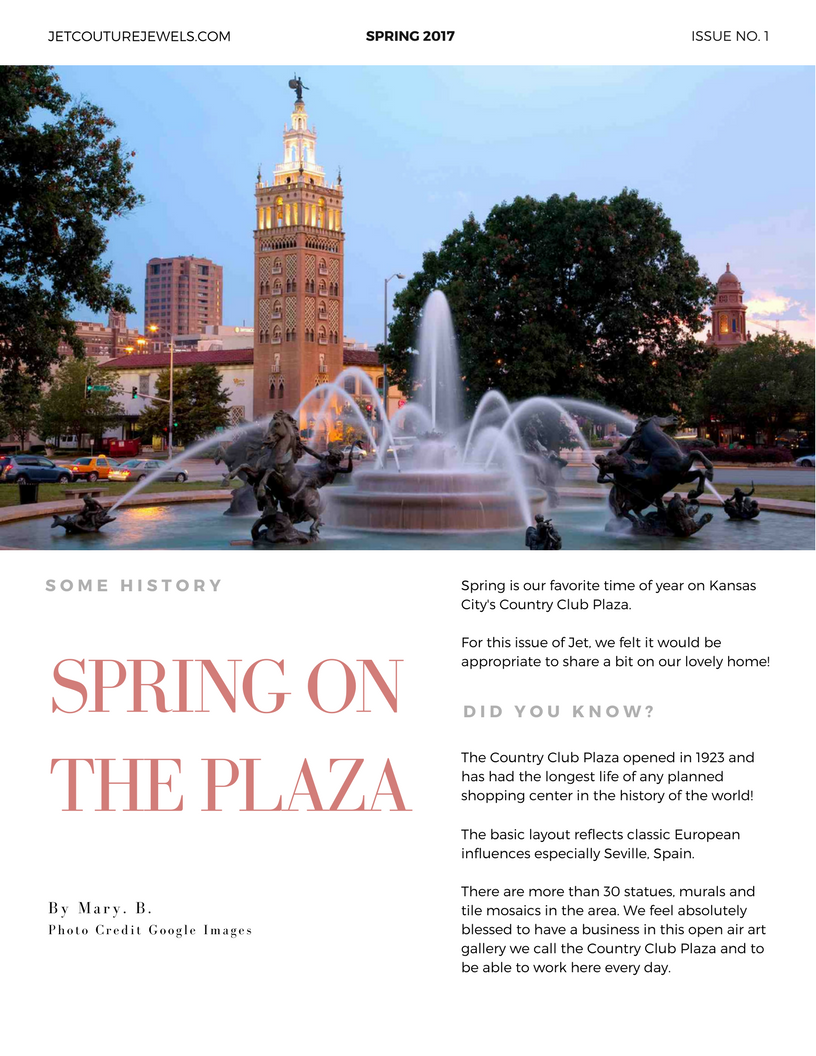 Jet Spring Newsletter Spring on the Plaza