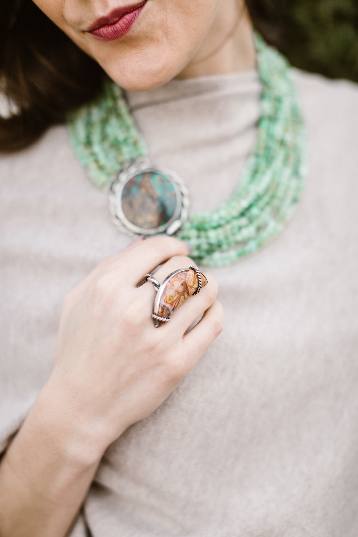 Handcrafted Jasper Ring