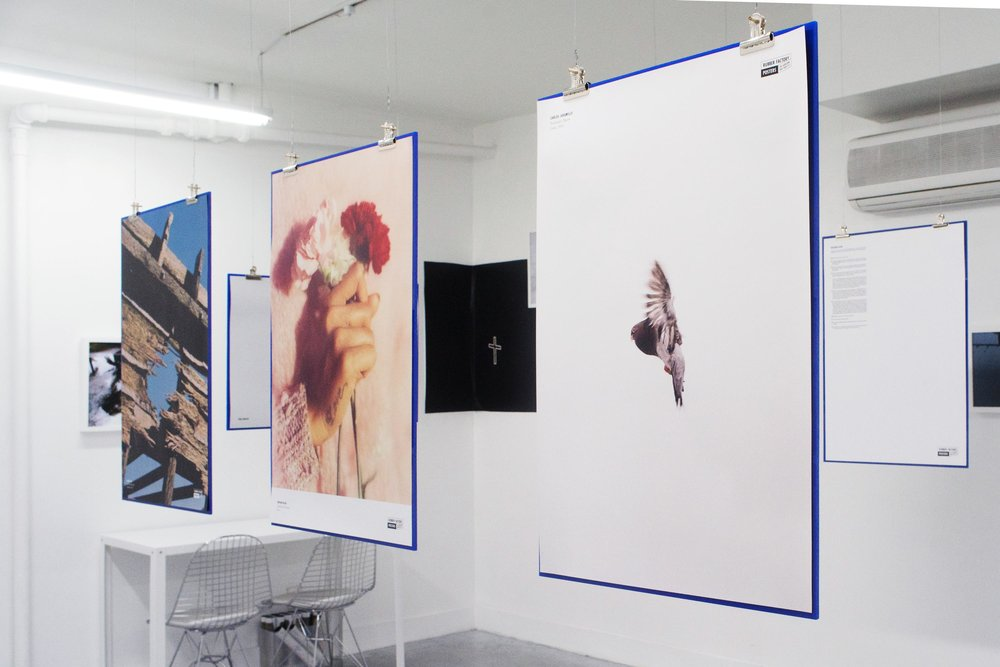 Posters, from left: Suzanna Zak, Nathan Bajar, Carlos Jaramillo.