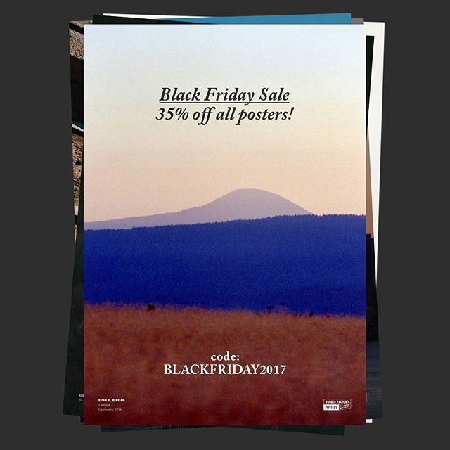 "For Black Friday, all of our curated photography posters will be 35% off all weekend! Use the code ""BLACKFRIDAY2017"" and get one for yourself or a friend — shipping stays the same no matter how many you order. Which are you going to choose?  #poster #photography #photo #rubberfactory #blackfriday #sale #dealsdealsdeals"