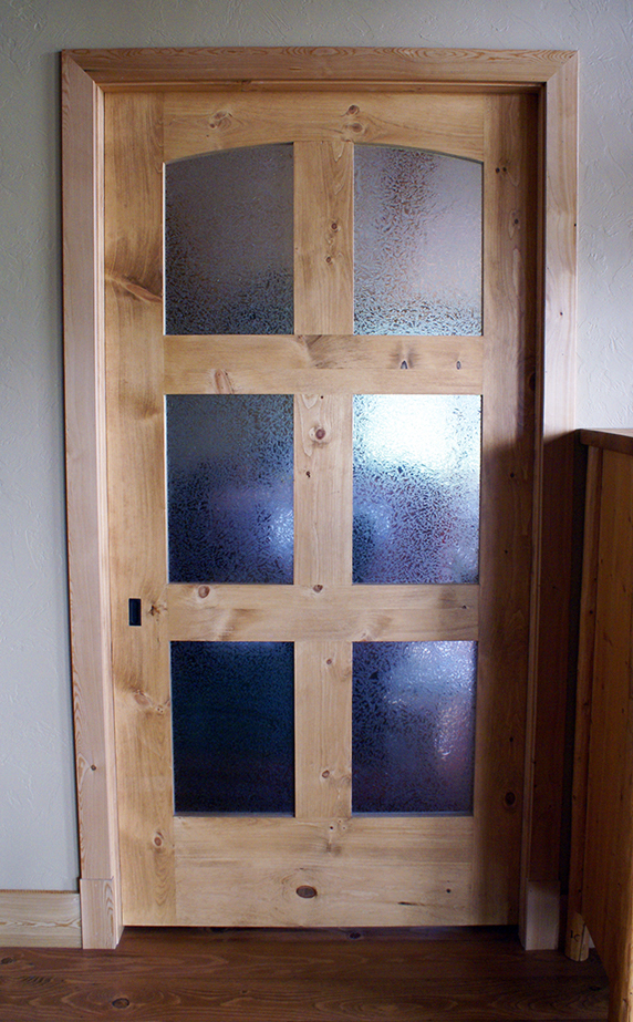 Interior pocket door.