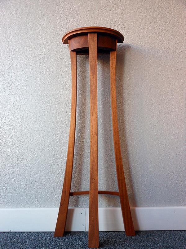 Small mahogany table.