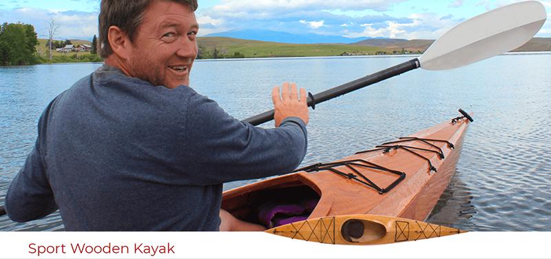 Eirik in an  Ellero kit kayak.