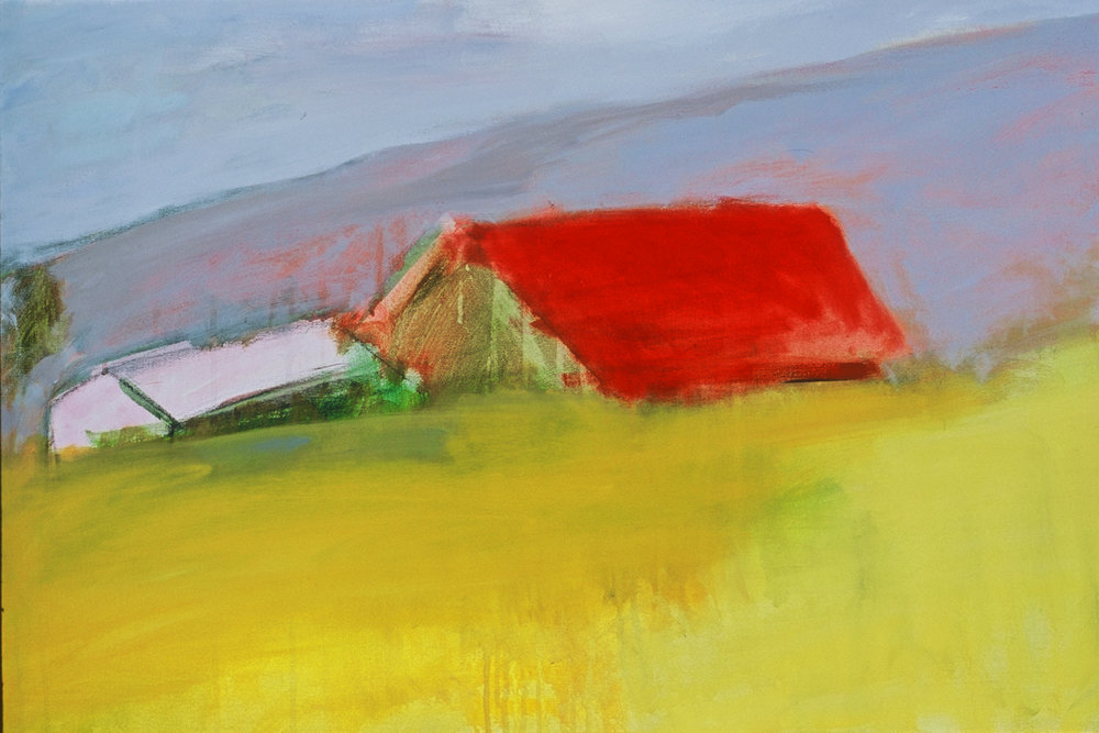 Barn, acrylic on canvas