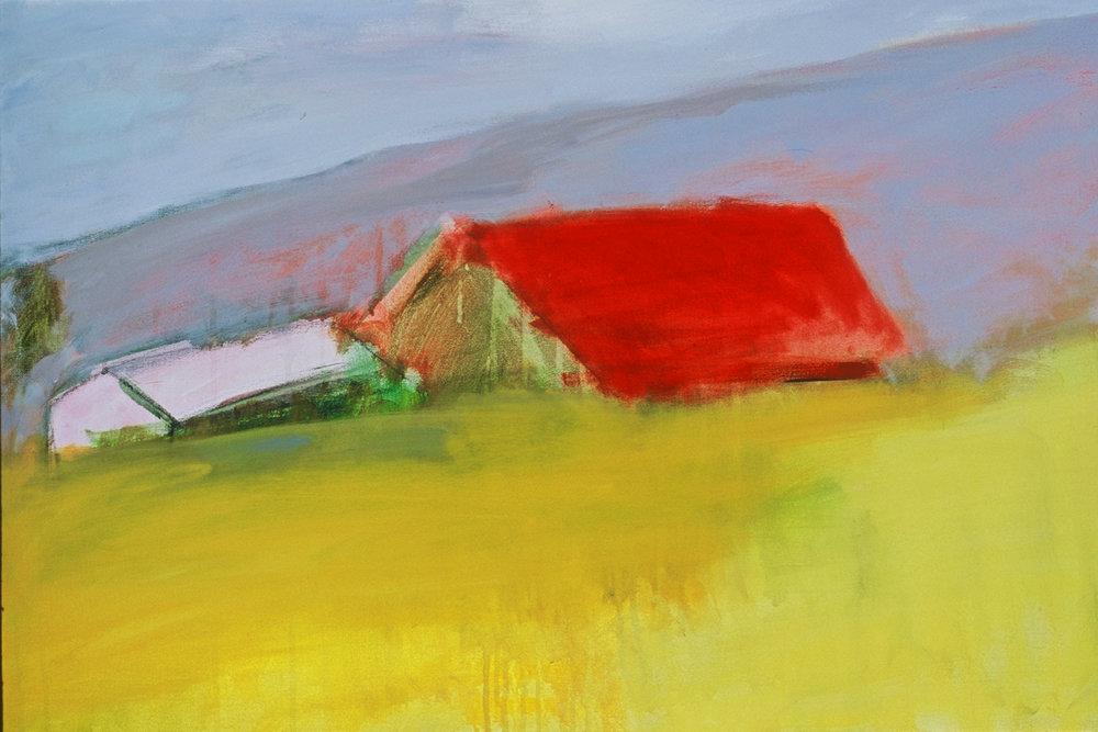 Barn, acrylic on canvas
