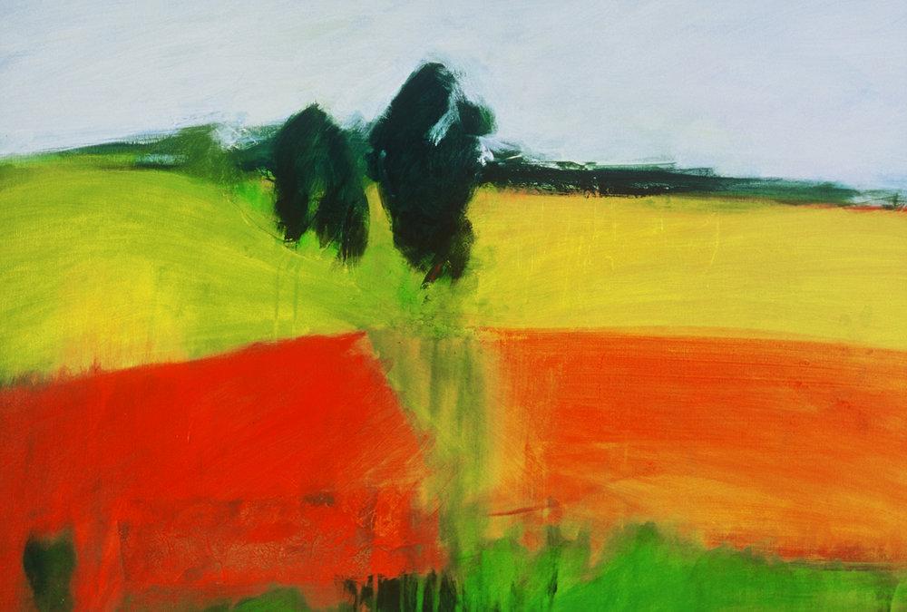 Erosion, acrylic on canvas