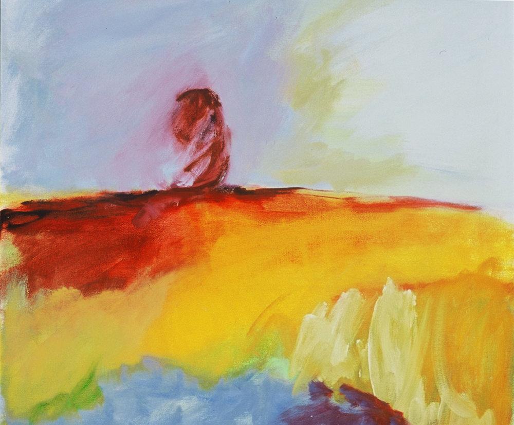 Windswept, acrylic on canvas