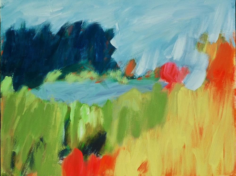 Hidden Pond, acrylic on canvas