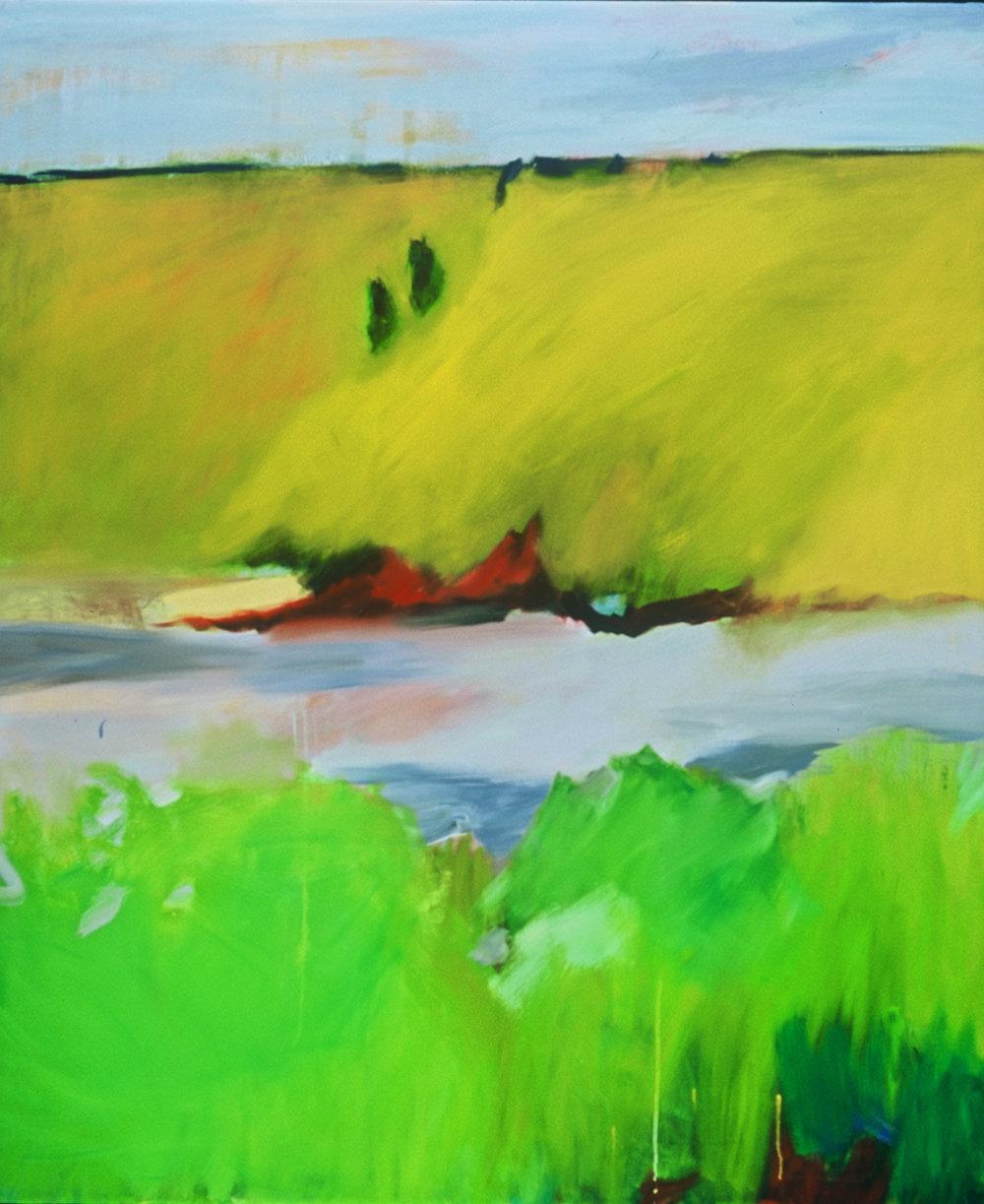 River, acrylic on canvas