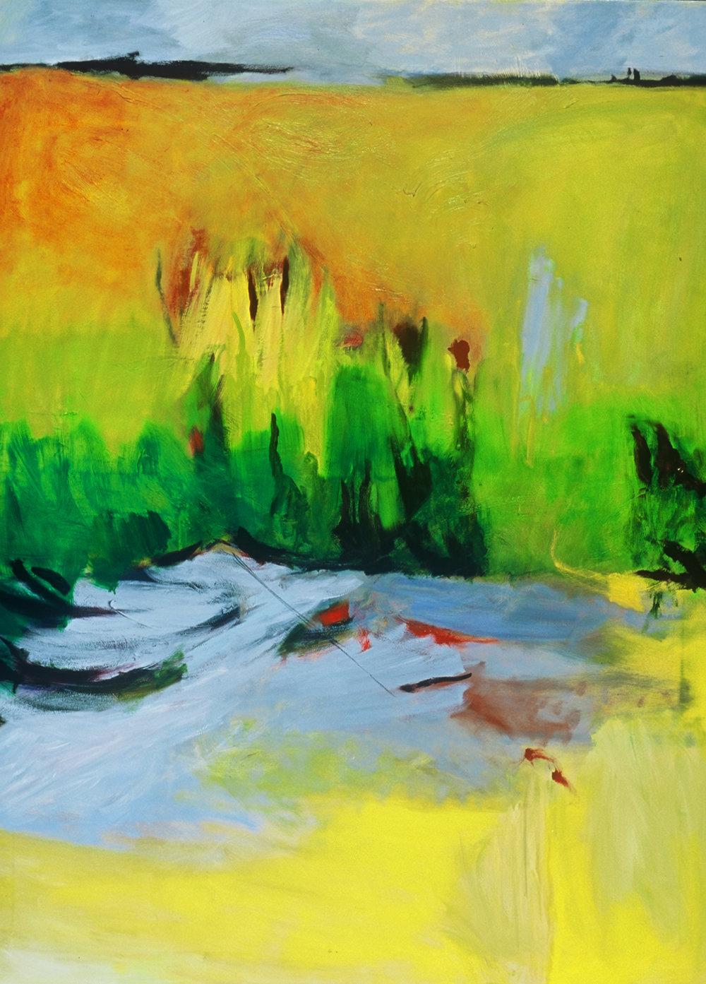 Run Off, acrylic on canvas