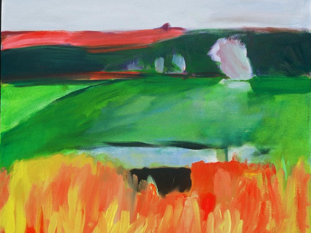 Field, acrylic on canvas