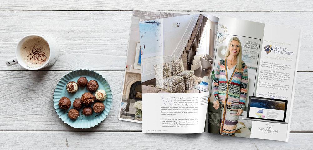 Ad for  The Seattle Condo Group  & Olga Dyckman |  Luxe Magazine,  November 2018