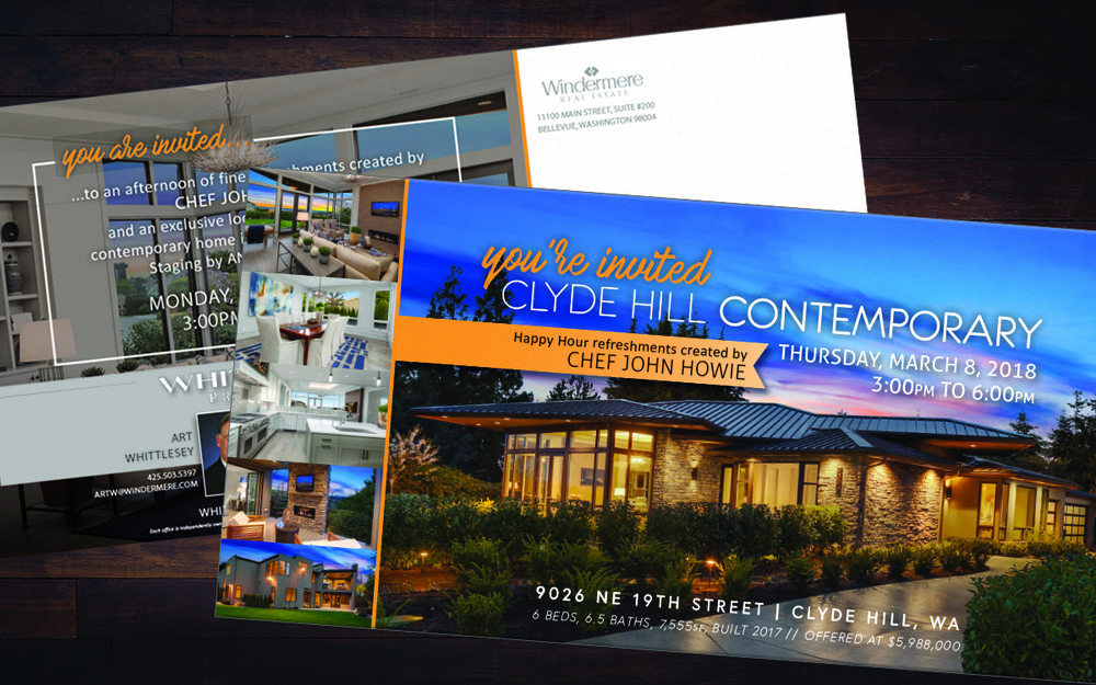 Event Postcard for Scott W. highlighting his stunning Clyde Hill listing.