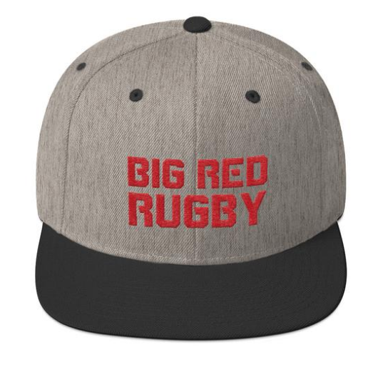 Big Red Rugby Snapback Hat