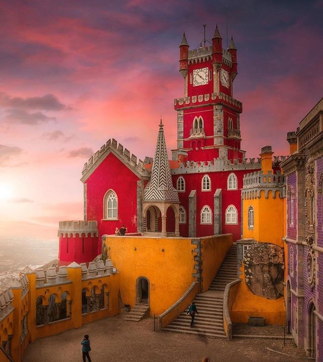 Portugal is magical ! #portugal  #magical #special #organic #sustainable #leedgold #sintra #palace #happy #colors