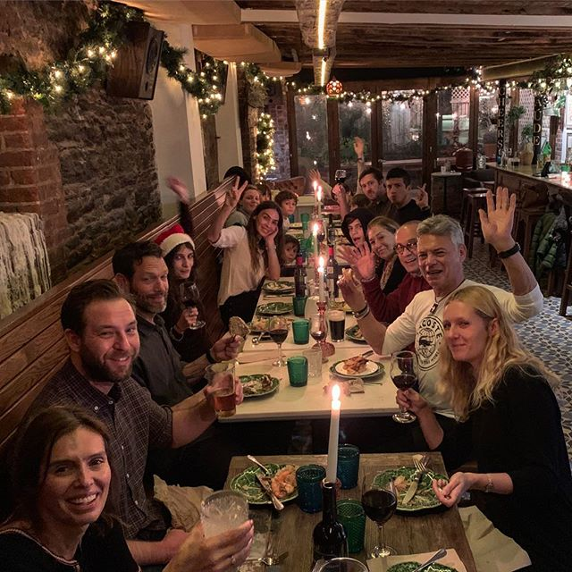 Happy Holidays ! From or family to yours ! #eastvillage #happy #guiness #cod #holidayseason #leedgold #sustainable #farmtotable #dinner