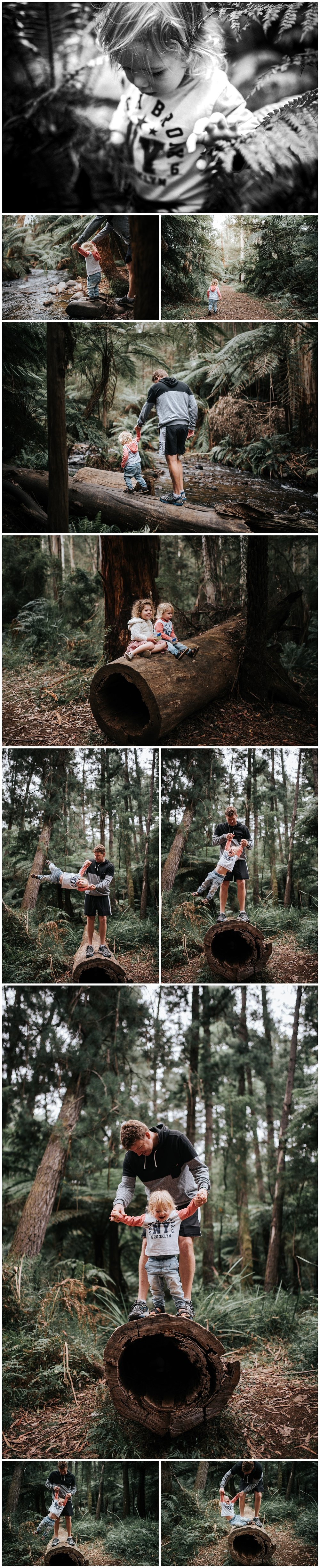 melbourne family photographer forest location