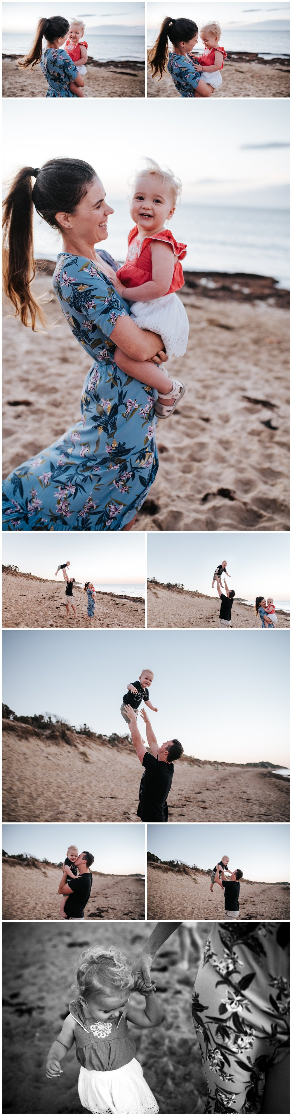 melbourne beach family photo session