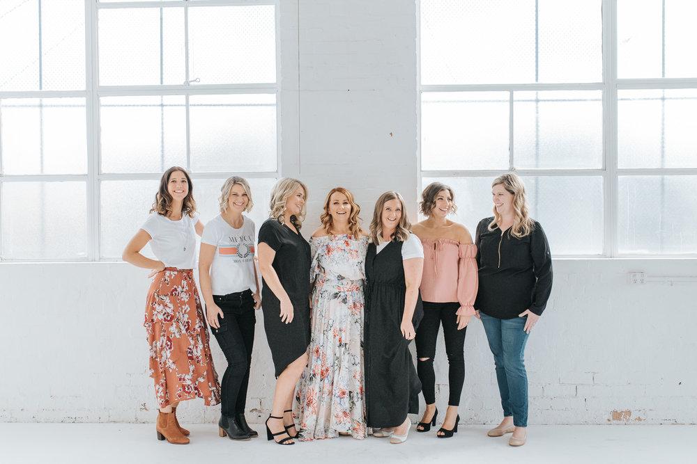 Mamas of Melb Edit  L-R Jodi & Kate (Circle In), Sarah (MamaMag), Natalie (Miracle Mama), Holly (Motherhood Melbourne), Ani (MumLife Australia), Sophie (Australian Birth Stories)