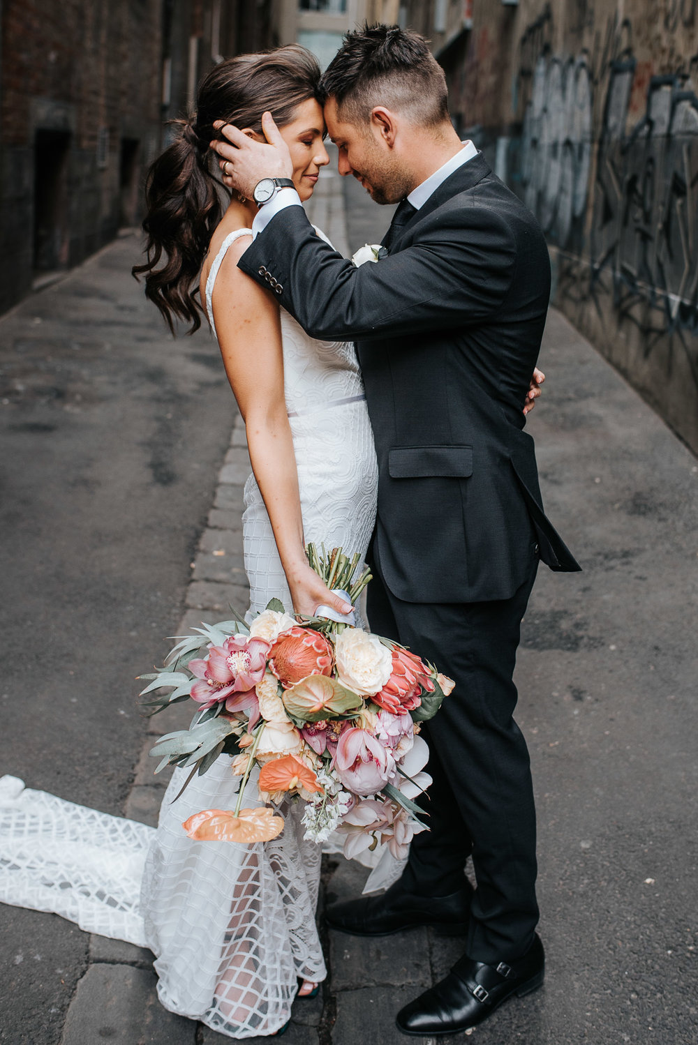 Melbourne wedding photography Tonic House and Melbourne laneways