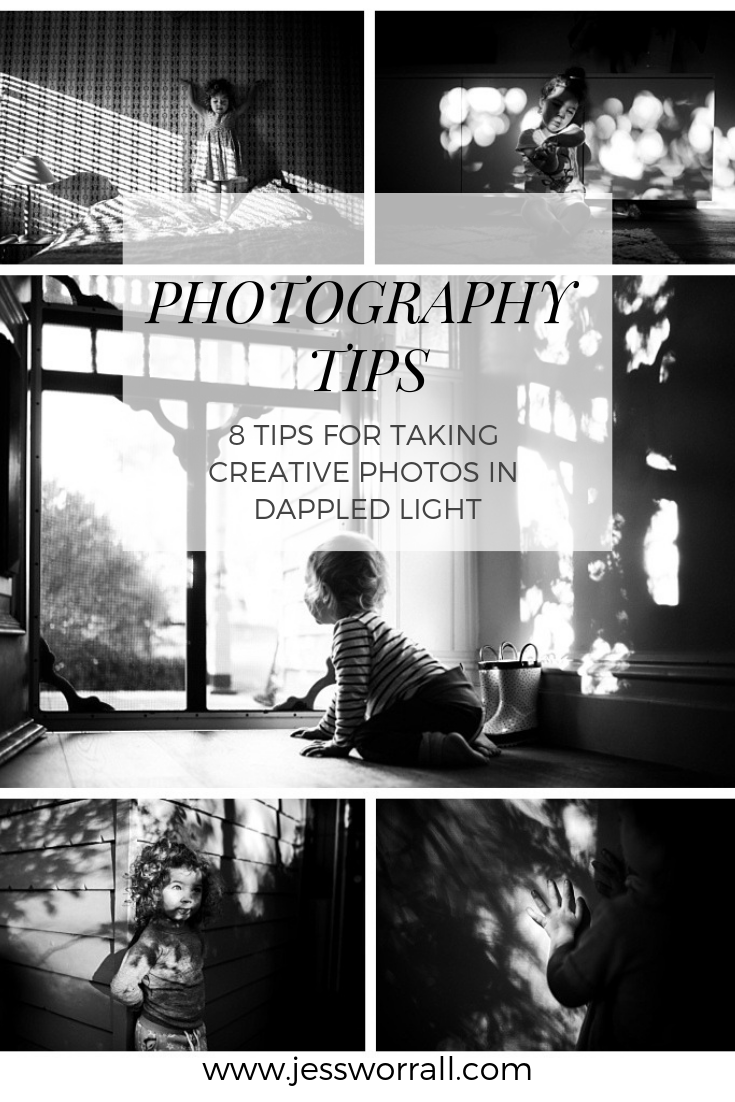 photography tutorial - how to take more creative photos using dappled light - Jess Worrall Photography